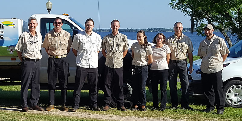 Group photo of the principle staff of Advance Tech Pest Management, serving Clermont and Central Florida